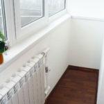 Запрещено переносить отопительных систем на лоджию либо балкон