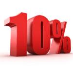 Компенсация 10 процентов долга
