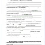 Заявление на регистрацию форма №1