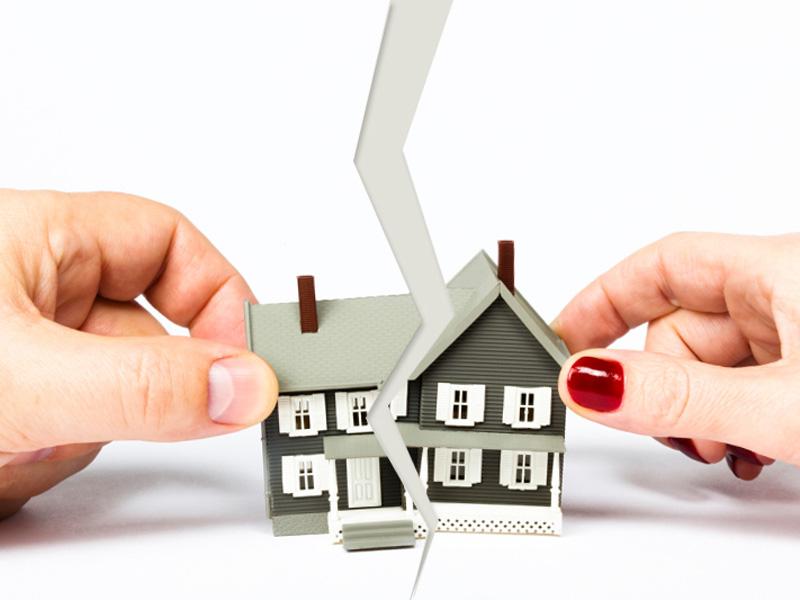 Как разделить дом и землю