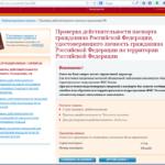 Проверка паспорта продавца на сайте ФМС