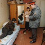 Акт о посещении незаконно занятого жилья, составленный участковым